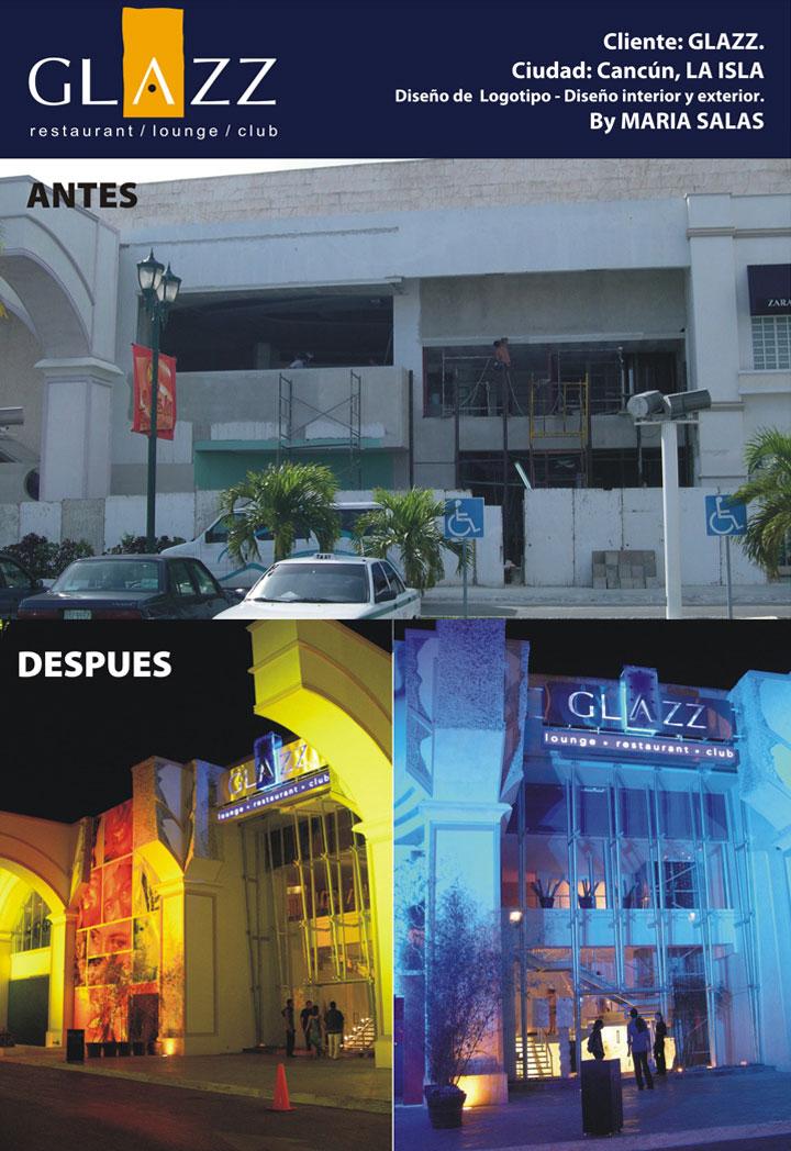 Diseño imagen Glazz, antes y después.