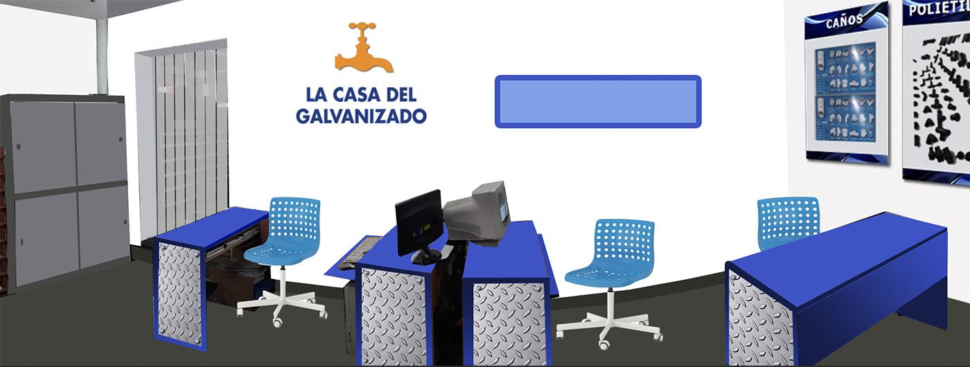 La casa del galvanizado. Ambientacion, identidad corporativa, antes despues by Maria Salas Design, comunicacion visual