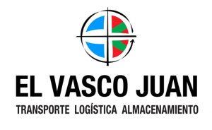 Logo para El Vasco Juan. Transporte. Logística. Almacenamiento. Imagen corporativa María Salas