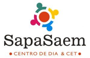 Logo para SapaSaem. Centro de Día & Cet. Imagen corporativa por María Salas