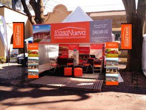 Diseño de stands Casa Nueva para ferias y expos.